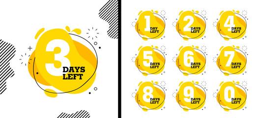 Number days left countdown vector illustration template Fotomurales