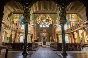Interior of the Jewish synagogue in Sofia (Bulgaria)