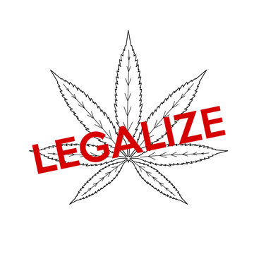 Word Legalize Marijuana With Illustration Concept  S