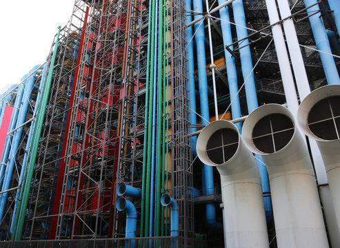 Paris, France - August 19, 2018: pompidou center
