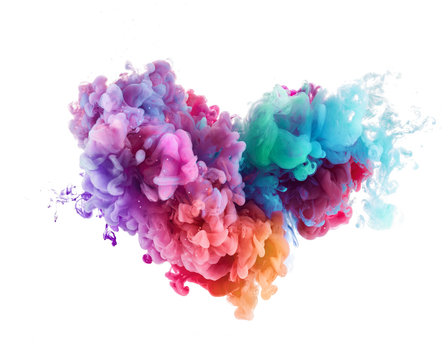 heart shape Splash from water paint background