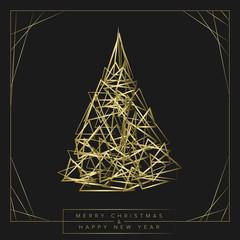Modern trendy christmas card