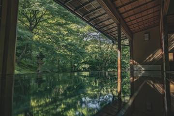 日本 京都 お寺 瑠璃光院 八瀬 比叡山 写真素材