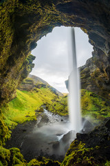 Wall Mural - Island - Wasserfall