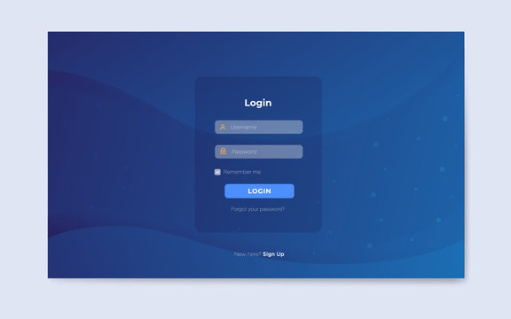modern login page design template