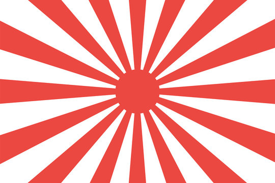 Japanese imperial navy flag isolated vector design. Abstract japanese flag for decoration design. Sunshine vector background. Vintage sunburst.