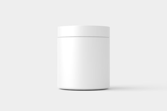 Supplement Bottle Jar Packaging White Mockup