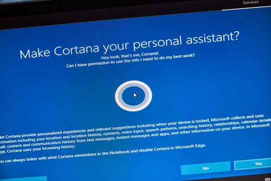 Windows Cortana, personal assistant