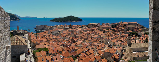 View over the roofs of Dubrovnik's old city.