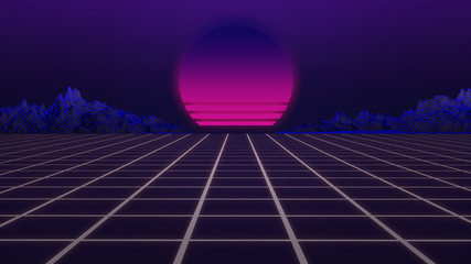 memories, 3d, 80s, alpha channel, arcade, arcade games, backdrop, background, composition, concept, cyber, digital, floor, futuristic, gaming, geometric, graphic, grid, ground, horizon, illustration,