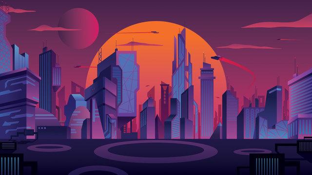 Futuristic City Landscape