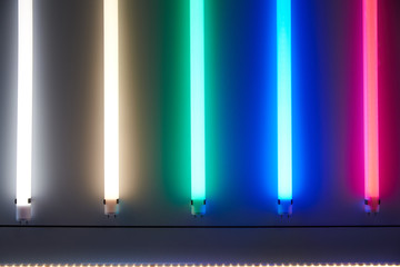 Luminescent lamps with various color of a luminescence. Energy Saving Technologies. Background