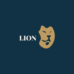 Lion Head Logo. Lion logo vector illustration, emblem design. lion head logo design. lion king face design logo.