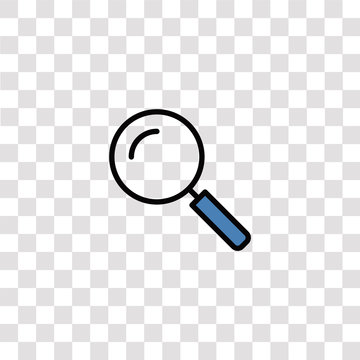 search icon sign and symbol. search color icon for website design and mobile app development. Simple Element from business set collection isolated on black background.