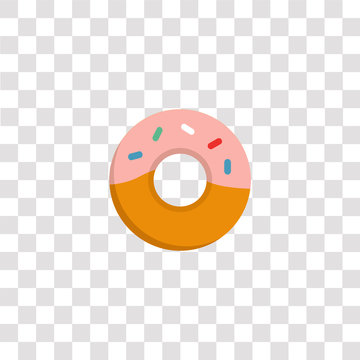 doughnut icon sign and symbol. doughnut color icon for website design and mobile app development. Simple Element from basic flat icons collection isolated on black background.