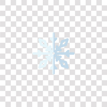 snowflake icon sign and symbol. snowflake color icon for website design and mobile app development. Simple Element from weather collection isolated on black background.