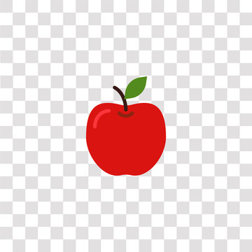 apple icon sign and symbol. apple color icon for website design and mobile app development. Simple Element from gastronomy set collection isolated on black background.