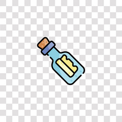 message in a bottle icon sign and symbol. message in a bottle color icon for website design and mobile app development. Simple Element from sailor collection for mobile concept and web apps