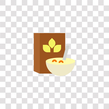 cereals icon sign and symbol. cereals color icon for website design and mobile app development. Simple Element from gastronomy set collection isolated on black background.