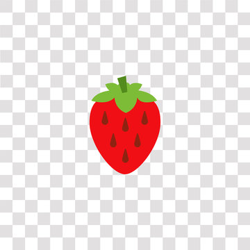 strawberry icon sign and symbol. strawberry color icon for website design and mobile app development. Simple Element from gastronomy set collection isolated on black background.