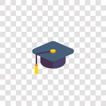 mortarboard icon sign and symbol. mortarboard color icon for website design and mobile app development. Simple Element from color startups and new business collection for mobile concept and web apps