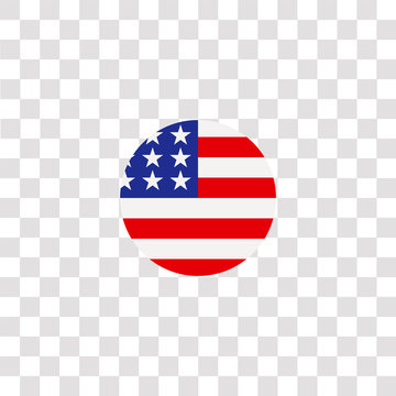 united states of america icon sign and symbol. united states of america color icon for website design and mobile app development. Simple Element from countrys flags collection for