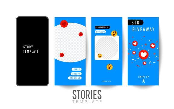 Story template poster for social media.