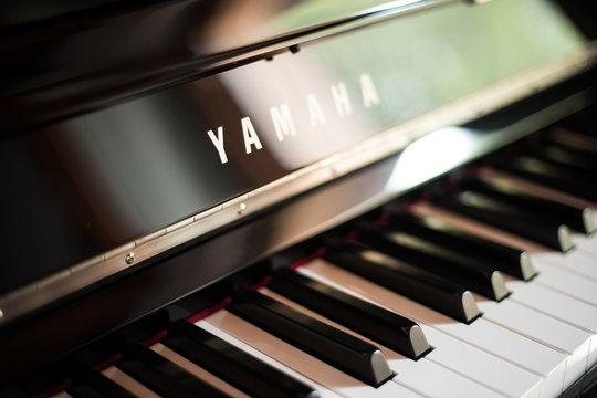 Vilnius - 10 October 2019 - Closeup of a Yamaha NU1 digital piano