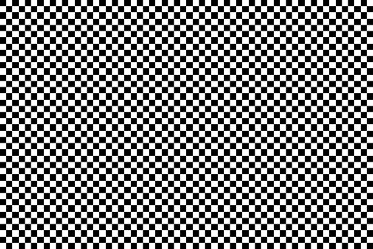 A simple checkerboard pattern, made of alternating black and white squares. Big surface area.