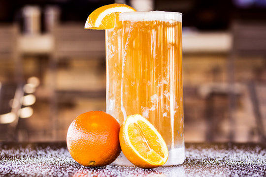 Cold Drink with Orange