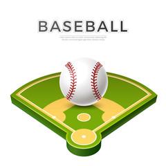 Vector realistic baseball ball for betting promo