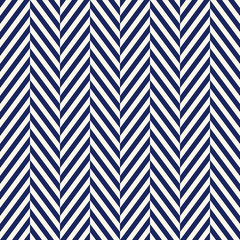 Herringbone abstract background. Navy colors seamless pattern with chevron diagonal lines. Classic geometric ornament.