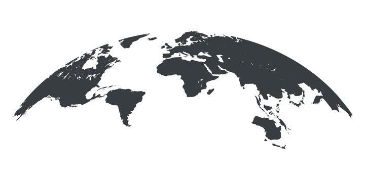 World map globe isolated - stock vector