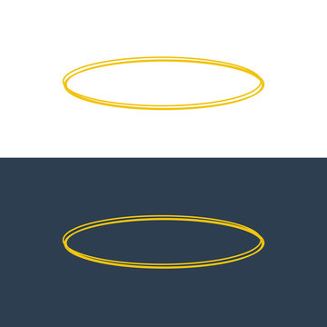 Angel halo ring icon. Holy ring angel halo circle vector