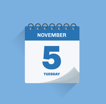 Day calendar with date November 5.