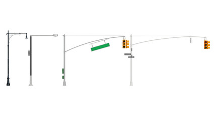 Traffic light yellow sign stoplight. 3D rendering
