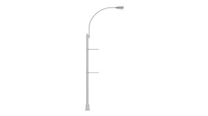 Pillar street urban lighting equipment. 3D rendering Fotomurales