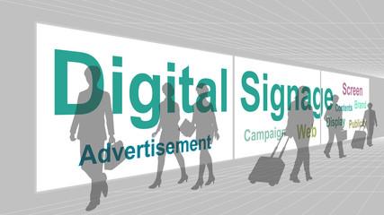 Digital signage (Multi-Monitor) in aisle