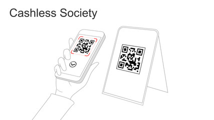 Cashless society and digital payments (QR Code)