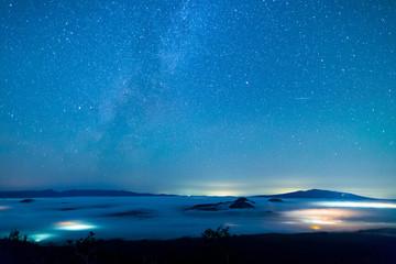 北海道 摩周湖 天の川