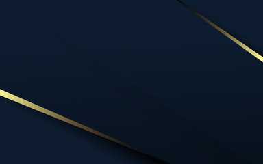 Wall Mural - Abstract luxury gold and dark blue background. Space for your design