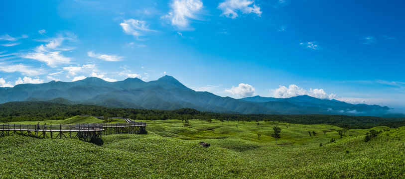 Shiretoko National Park located on the Shiretoko Peninsula in eastern Hokkaido