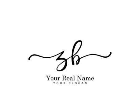 ZB Initial beauty monogram logo vector