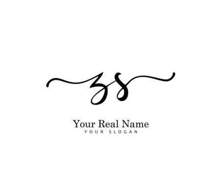 ZS Initial beauty monogram logo vector