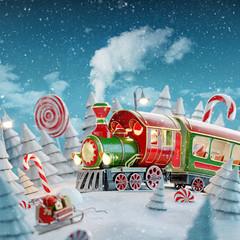 Santa's Christmas train