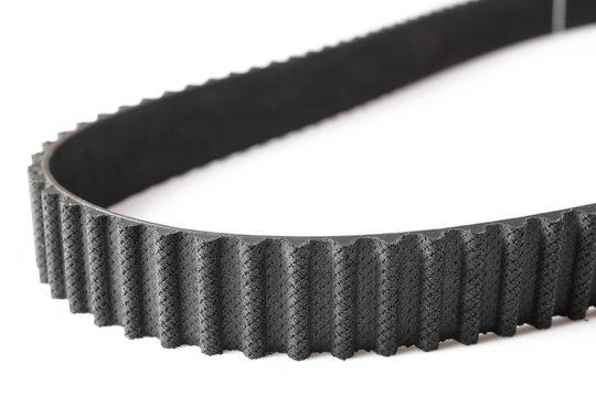 Timing belt, camshaft. Isolated on white background.