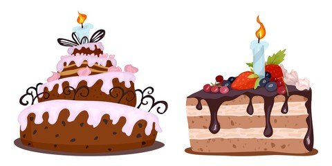 delicious cream colored cakes painted on the day of birth