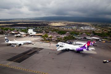 Airport of Kona, Big Island, Hawaii