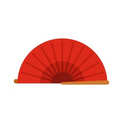 Summer hand fan icon. Flat illustration of summer hand fan vector icon for web design