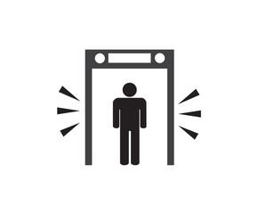 Fototapeta security check point sign, vector illustration.